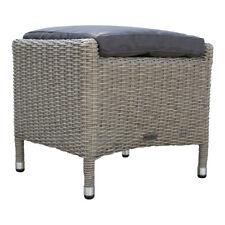 dasmöbelwerk Polyrattan Garten-Hocker Fußbank Loungehocker montiert MILANO Grau