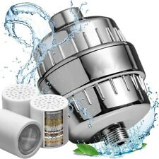 15 Stage Shower Head Filter Purifier + Filter Cartridge Hard Water Softening E