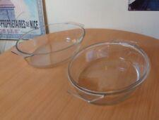 RETRO JAJ OVAL SHAPED PYREX GLASS STYLE CASSEROLE DISH WITH LID-5.8 LITRE