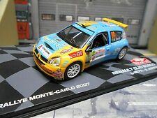RENAULT Clio S1600 Rallye Monte Carlo 2007 #69 Betti Super 1600 IXO Altaya 1:43