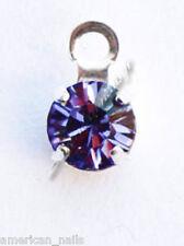 Piercing bijoux d'Ongle Strass SWAROVSKI Améthyste Argenté 4 mm Nail Art