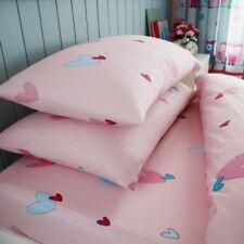 Cœurs Drap Simple & Set Taie d'OREILLER Literie Rose Chambre à Coucher Filles