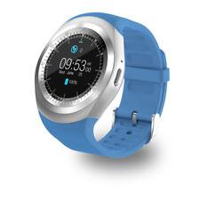 Y1 Premium SmartWatch Uhr BLAU Bluetooth Samsung iPhone Android SIM Handy BLUE