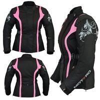 Ladies Womens Motorcycle Motorbike Waterproof Windproof Cordura Jackets Coat