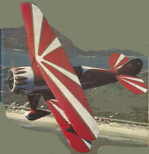 """Model Airplane Plans (UC): Waco Taper Wing 37"""" Scale/Stunt for .29-.32 Engines"""