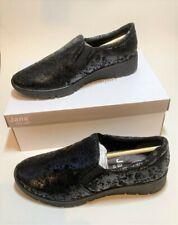 New JANA Relax Women's Loafers Black Effect UK Size 6 EU 39 8-24701-23