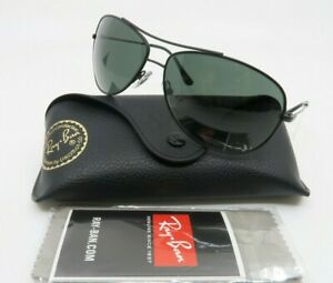 Ray-Ban 3293 006/71 63mm Pilot Black Metal/Green Unisex Sunglasses, New w/Case