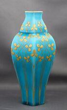 Sevres Art Nouveau Porcelain Gilt Clover Celeste Bleu Small Vase S 1900 Mark