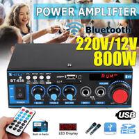Car Home Mini HIFI Digital bluetooth Stereo Audio Amplifier SD FM Radio   !