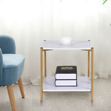 Wood/Steel Small End Table Living Room Coffee Table Creative Sofa Bed Table USA