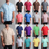 MEN'S OMEGA BARTENDER SHORT SLEEVE BEACH WEDDING CUBAN GUAYABERA CASUAL SHIRT