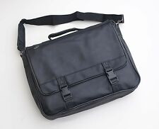 BUSINESS SHOULDER BAG DELUXE BLACK LEATHER LOOK MODERN STYLING FREE UK POST