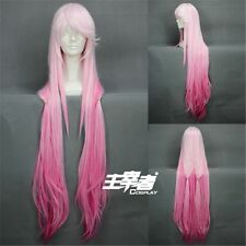 110cm Long Guilty Crown Inori Yuzuriha Gradient Pink Cosplay Anime Wig +Free CAP