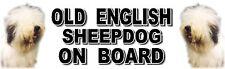 OLD ENGLISH SHEEPDOG ON BOARD Car Sticker By Starprint