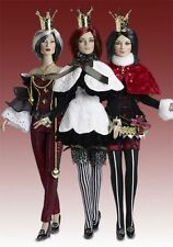 Stacked Deck Centerpiece Doll set of 3, Spade, Heart & Club, Ltd Ed 150 16'' New