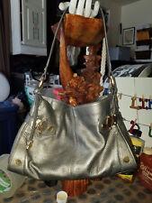 ALFANI - Gray Pebbled Leather with Hinge Hardware Slouch Shoulder Bag #6