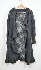 Cardigan nero MADE IN ITALY, size M/L, black
