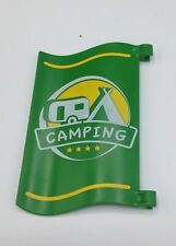 Playmobil Summer Fun 5432 CAMP SITE Flag Green Camping Outdoors