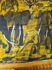 Signed Robin Anderson Elephants Batik on Silk Handmade Kenya Limited Ed. of 100