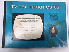 Vintage Electronic Technician Magazine Tv Tech Matics 1965 Vol 2 Hayden Book