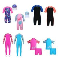 Kids Girls One-Piece Swimwear Swimsuits Bathers Bathing Swimming Wear Rash Guard