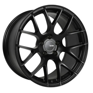 Enkei Raijin 18x8 45mm Offset 5x112 Bolt Pattern 72.6 Bore Diamter Matte Black W