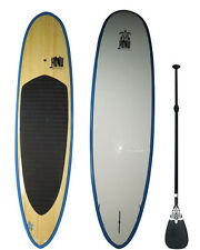 Stand up Paddle - SUP board 10'0 + Fins + Grip + Paddle : Bambo  Finish