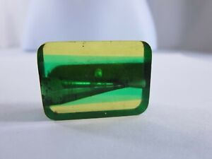 Antique German Green Yellow Early Plastic Pencil Sharpener RP14