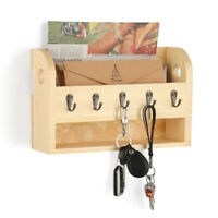 Wall Mail Letter Key Holder Hook Rack Hanger Organizer Storage Natural Color