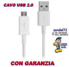 CAVO DATI MICRO USB BIANCO X ASUS ACER AEG ALCATEL BELLPHONE BENQ ECHO ERICSSON