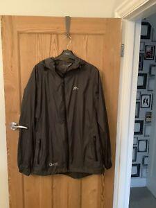 TRESPASS Mens Jacket Size M Qikpac Grey Hooded Waterproof & Lightweight