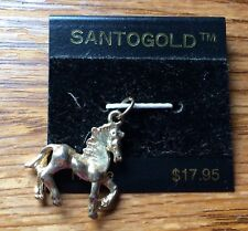 "Santogold Horse Pendant Prancing Horse 1"" X 1"" New Cute For Necklace Or Bracelet"