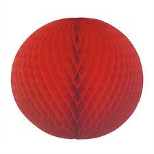 5 Premium Wabenball rot Ø 60 cm schwer entflammbar Party Deko