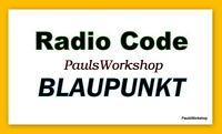 Radio Code - Blaupunkt  Key Code Codice radio Codi de ràdio Sicherheitscode Códi