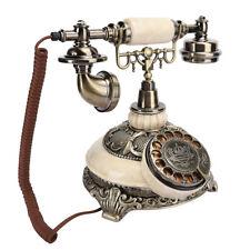 Antique Bronze Telephone Landline Rotating Dial Handset Desktop Caller TMD