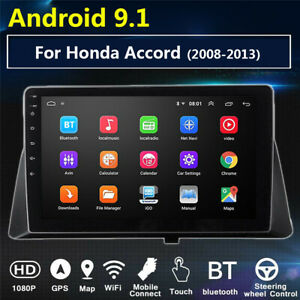For Honda Accord 2008-2013 10.1in Android 9.1 Car Radio Player Wifi GPS Player