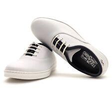 Salvatore Ferragamo Larcher zapatos piel blanca Size 8.5 punta D
