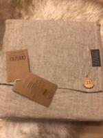 Croscill Queen 100% Flax Linen Flat Sheet 94x102