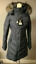 $629 NWT Pajar Women QUEENS Duck Down Real Fur Blue graphite Parka Medium