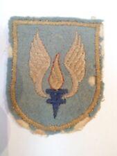 Ancien écusson / Blason - Torche / ailes / Flamme - Feutre - VINTAGE - 6 x 5cm