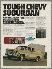 1978 Chevy SUBURBAN advertisement, Chevrolet, towing trailer