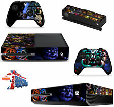 FIVE NIGHTS AT FREDDY`S 5 xbox one skins decals stickers + kinect + 2 cont game