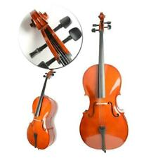 More details for 4/4 size basswood cello set for student beginners w/ bag rosin bow uk retro