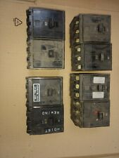 Lot of 8 Square D Qo315 qo320 15 amp 20a 3-Pole Circuit Breakers used