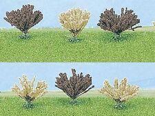 Busch 6057: Bomen: 6 struiken, 3x wit en 3x bruin