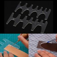 DIY Leather Craft Acrylic Leather Belt Sword Tail Square Tail Stencil Template