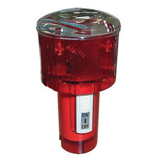 Solar Marker Light, Light Red LED Day Off Night On Photocell Activated Flashing