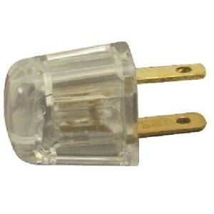 QUICK CONNECT { CLEAR } ~ Lamp Cord  Plug ~ for SPT-1 Wire