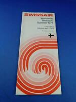 SWISSAIR WORLDWIDE AIRLINE TIMETABLE SUMMER 1974 FIRST EDITION ADVERTISING