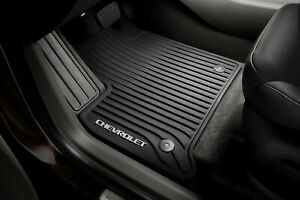 2018 - 2021 Chevy Traverse First-Row All-Weather Floor Mats Black 84162515 GM